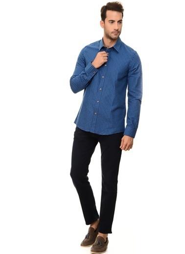 Limon Company Kareli Gömlek Mavi